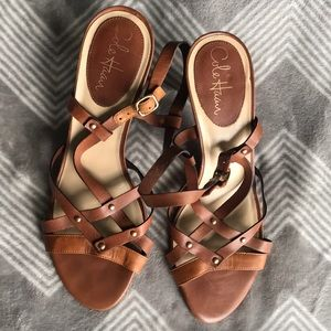 Cole Haan Nike Air Strappy Sandals in Chestnut